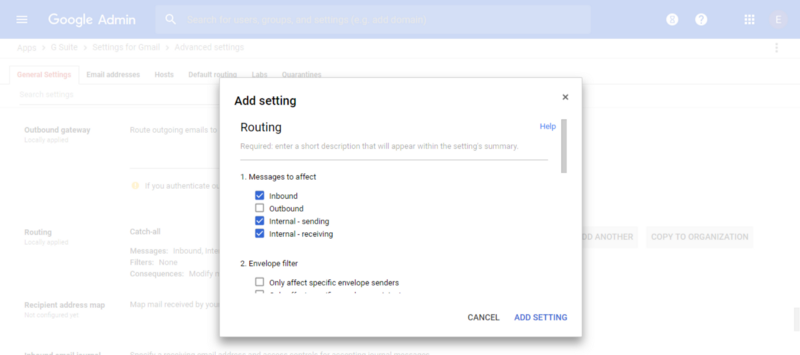Sign up for G Suite - Macaulay Gidado - Configure Catch-all Routing