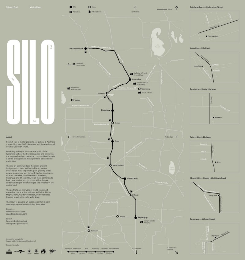 map of silo art trail