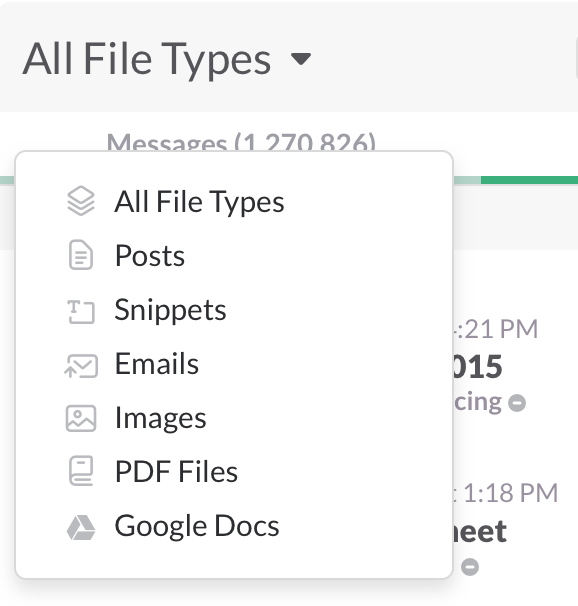 filter by file types
