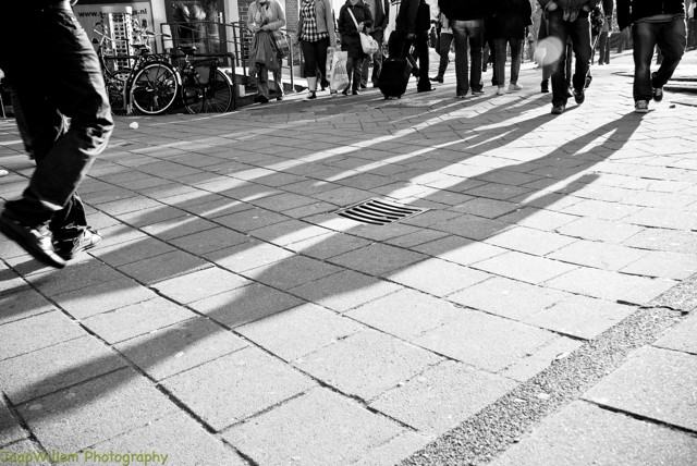 Black and White Footsteps Amsterdam