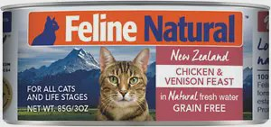 Feline Natural Chicken & Venison Feast Canned Cat Food