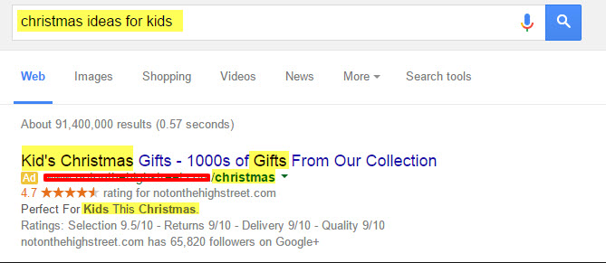 paid ads are in sync with your Christmas