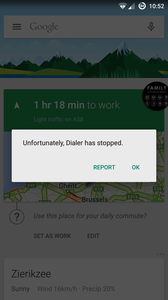 Android Phone Error Messages