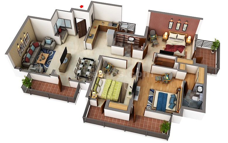 3 bhk flats for sale in elite cross Zirakpur