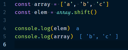 Array.shift Method