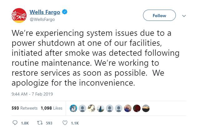 Military Operations Involving Wells Fargo Followed By