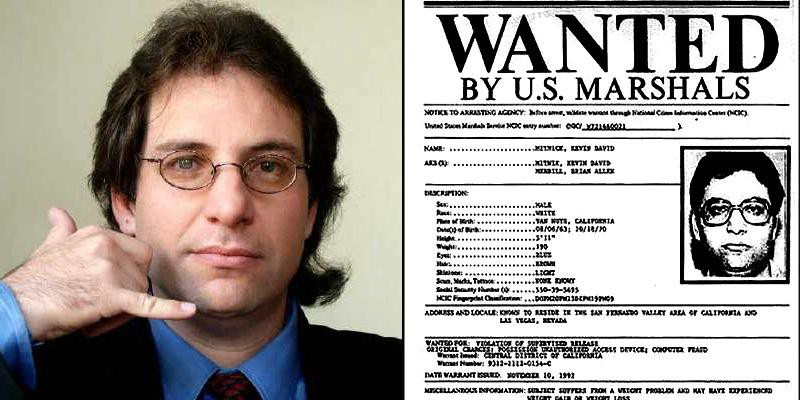 mitnick hacker wanted