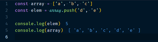 Array.push Method