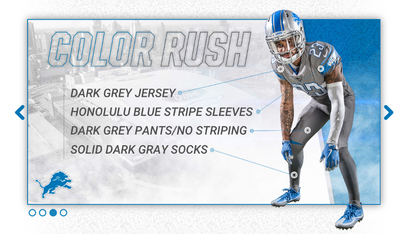detroit lions 2017 new uniform color rush