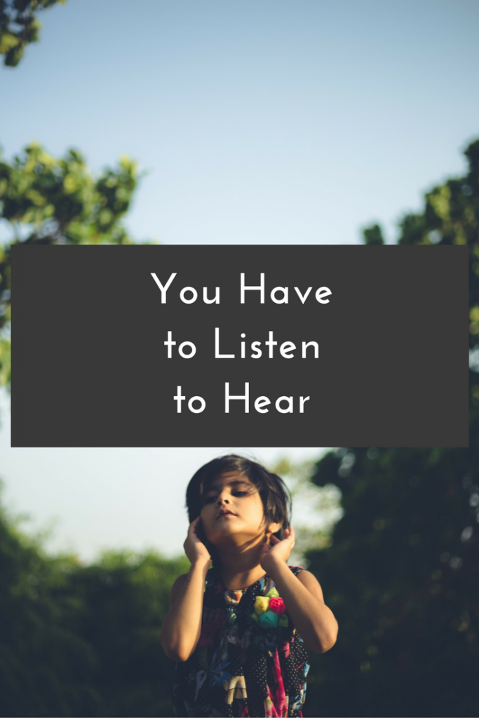 Blog Post | Do you ever find yourself wondering why you aren't hearing from God? Learn from my experience that you can't hear unless you are listening.