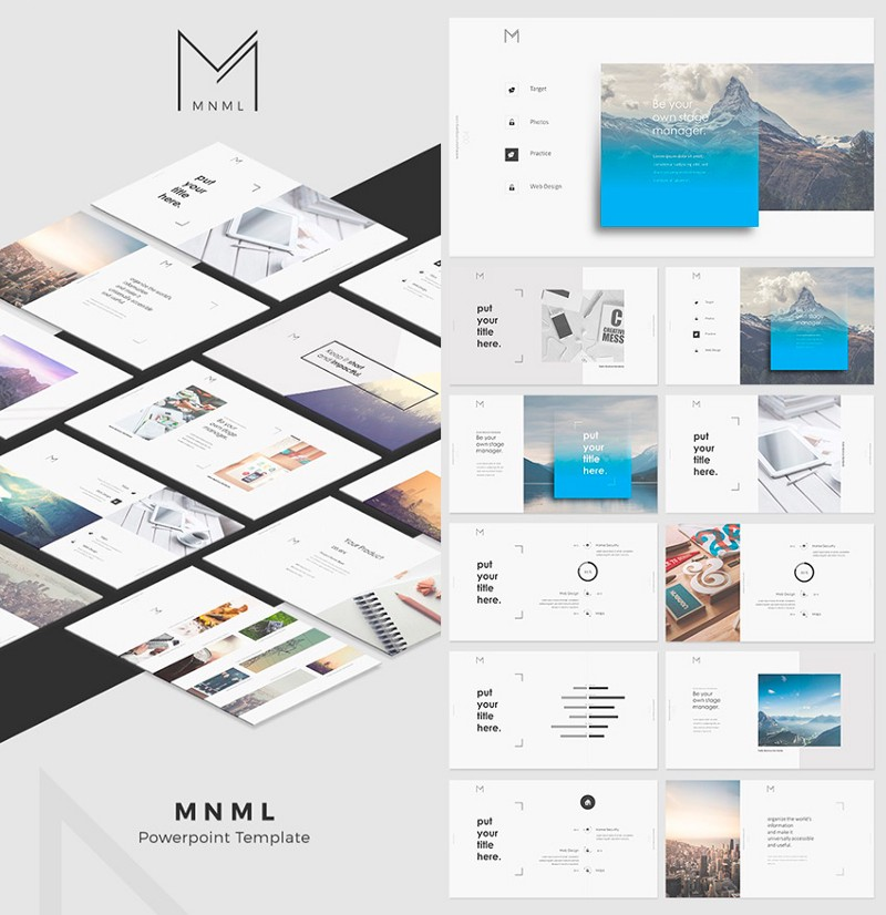This Five Star Rated PowerPoint Template Has A Very Cool Design With Unique Minimal Aesthetic While Its Packed Over 150 Modern Slide Designs