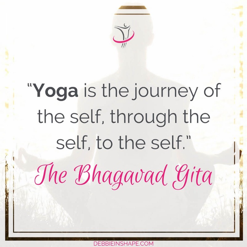 """""""Yoga is the journey of the self, through the self, to the self."""" - The Bhagavad Gita"""
