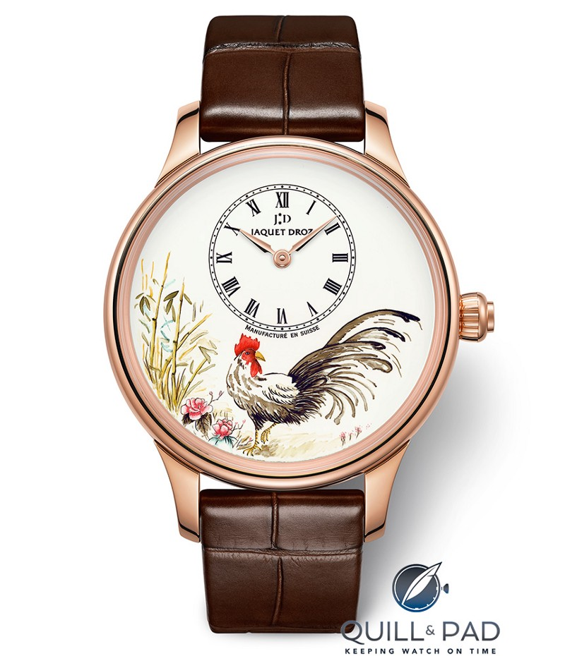 Jaquet Droz Petite Heure Minute Rooster