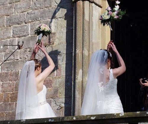 Romantic Weddings Simple: Rose & Rosie, Romantic Wedding Of Two Brides