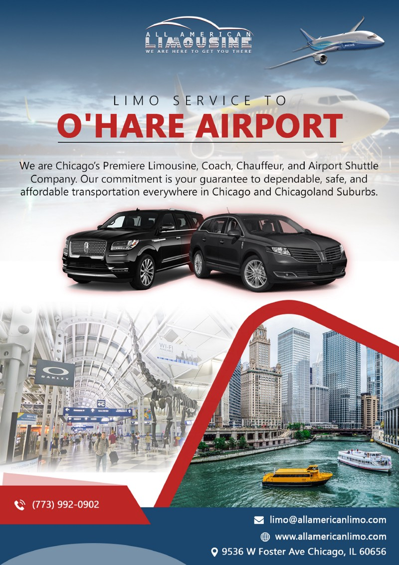 Limo in O'Hare, Limo at O'Hare, Limo Rides to O'Hare Airport
