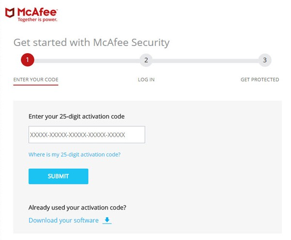 Install McAfee with Activation Code