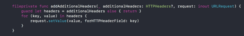 addAdditionalHeaders method implementation