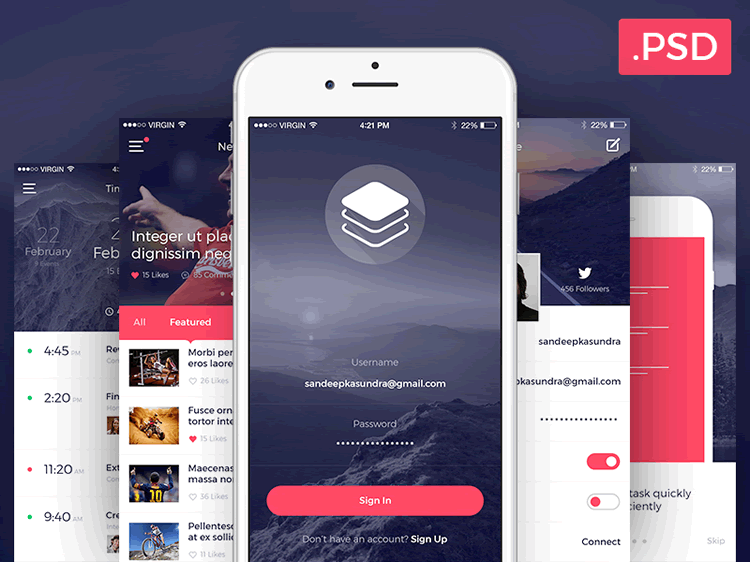 free mobile ui kits