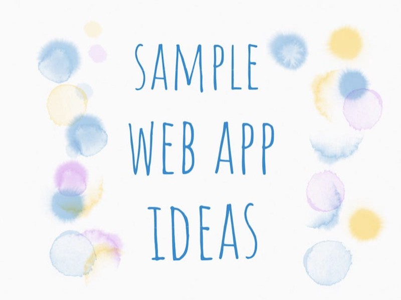 Want to build something fun? Here's a list of sample web app ideas.