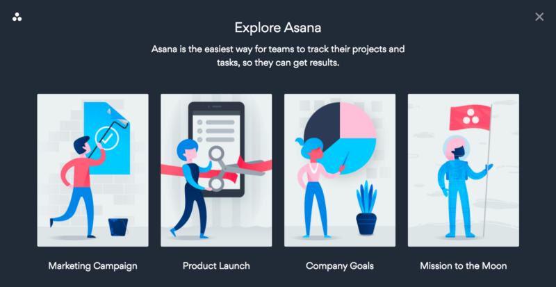 Asana website illustration