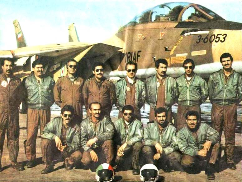 Some of Iran's first F-14 pilots