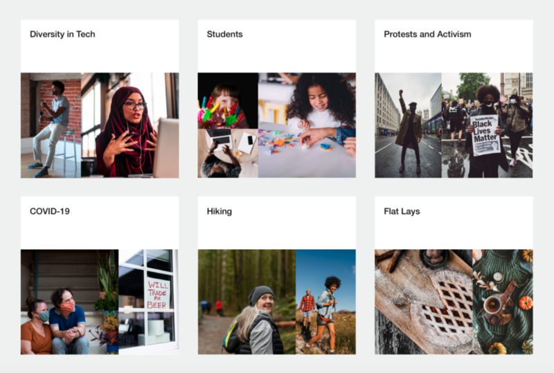 Noun Project Photos hosts curated collections of stock photos for social media based on different themes, subjects, and styles. Think about utilizing social media marketing images that speak to your target audience and reinforce your brand's messages.