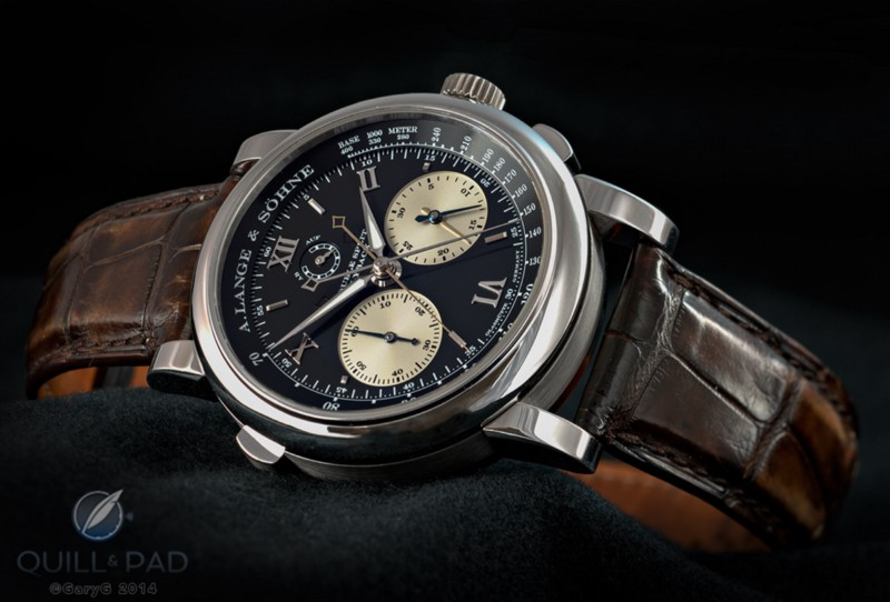 The A. Lange & Söhne Lange Double Split with split-seconds and split-minute indications visible