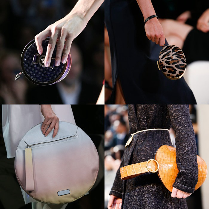 Round clutches handbags