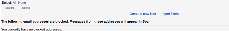 create a filter in gmail settings