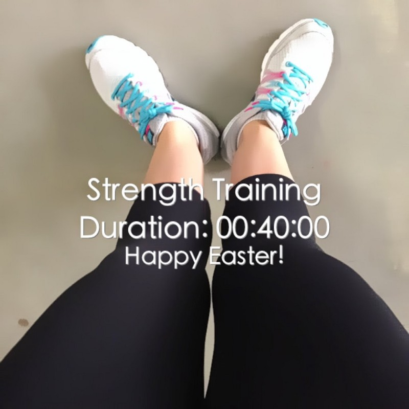 After an Easter Sunday Strength Training workout session.