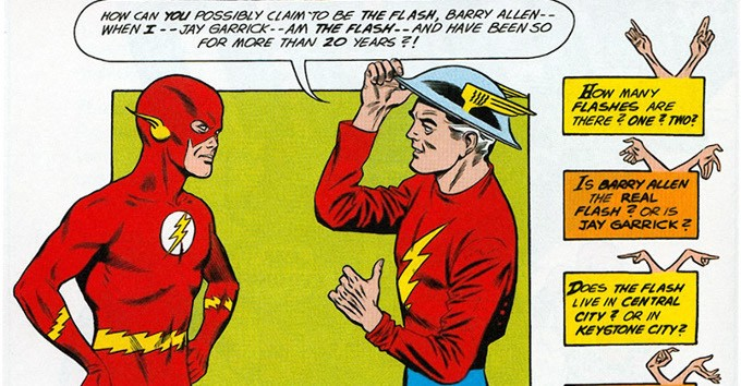 Who is the superhero Flash's alter ego?