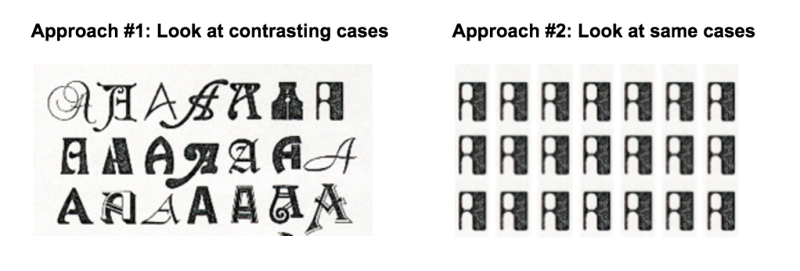 Chart Showing Two Different Approaches Contasting Cases And Same Cases