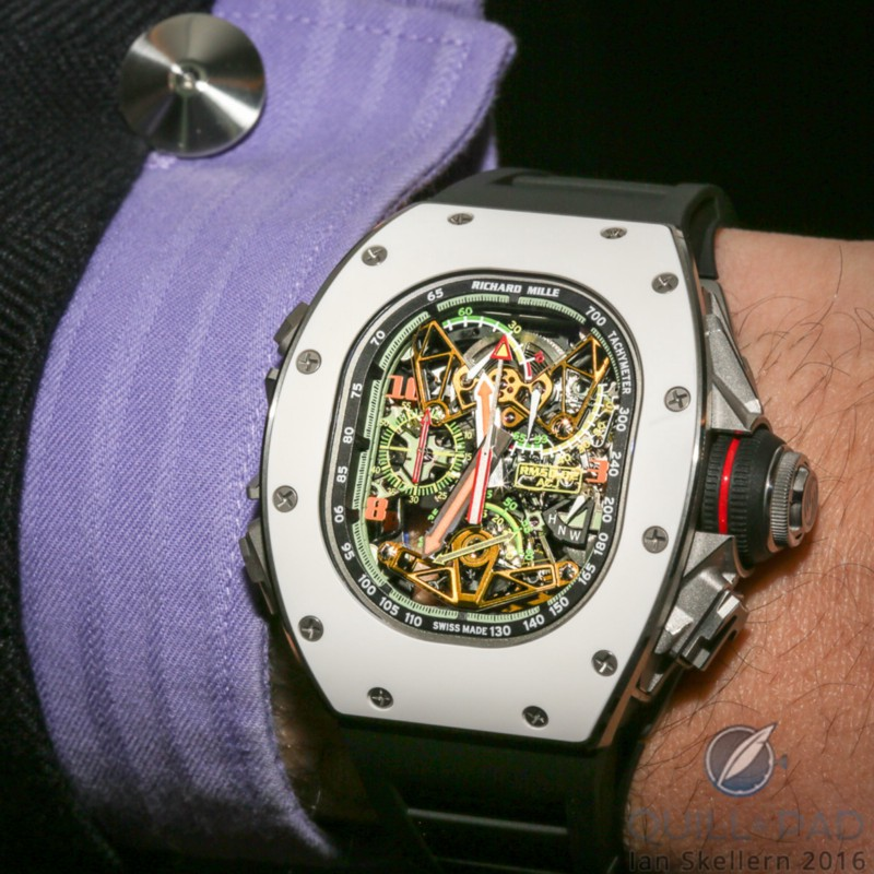 Richard Mille RM 50-02 Airbus ACJ Tourbilon Split-Seconds on the wrist