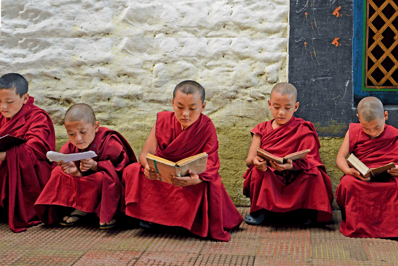 monastry students in Arunachal Pradesh