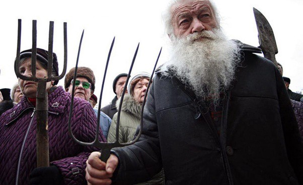 russian commoners prepared to face down modernizers