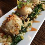 scallops almandine -spring menu 2017 at restaurants near me