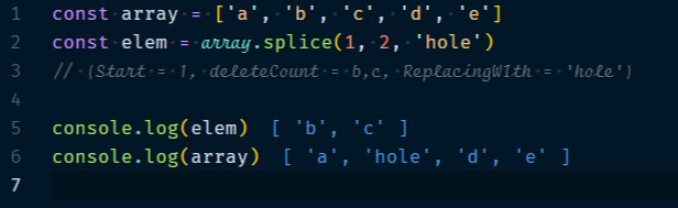 Array.splice Method