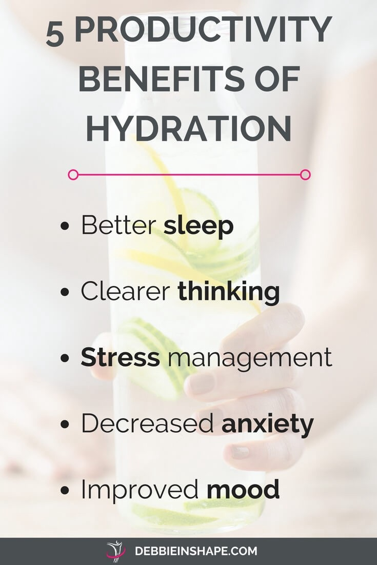 5 reasons to drink water to boost your productivity. Read more on the blog!