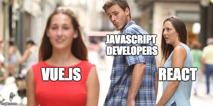 it meme js dev comparing vuejs and react