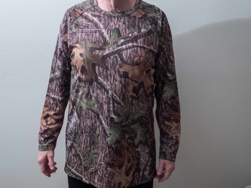 Mossy Oak long sleeve tee is long enough to stay comfortably tucked in