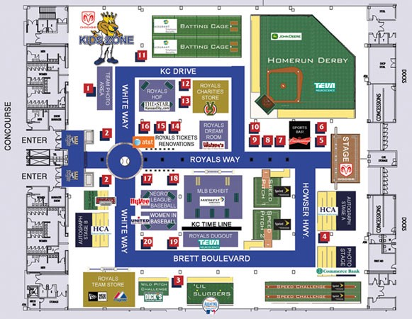 Fanfest silent auction items and floor plan royal rundown for Event floor plan layout