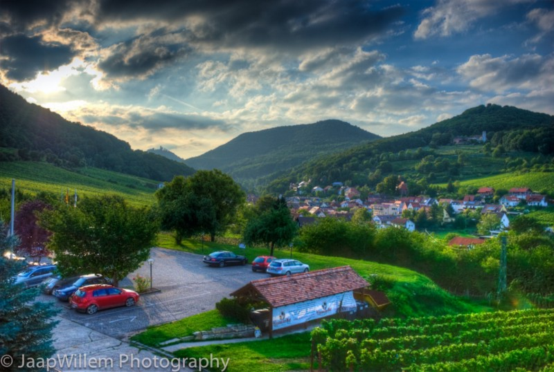 HDR Panoramic View Leinsweiler