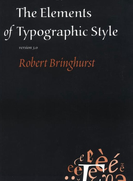 The Elements of Typographic Style Book
