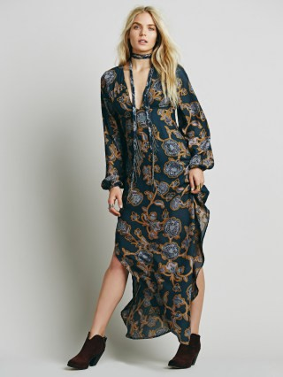 sexy printed maxi dress for tall women
