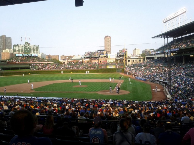 The Chicago Cubs vs. the Pittsburgh Pirates at Wrigley Field on September 16, 2012.