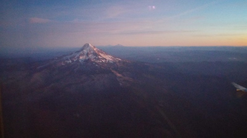 The view from my window on our final approach into Portland, OR in early September 2016.