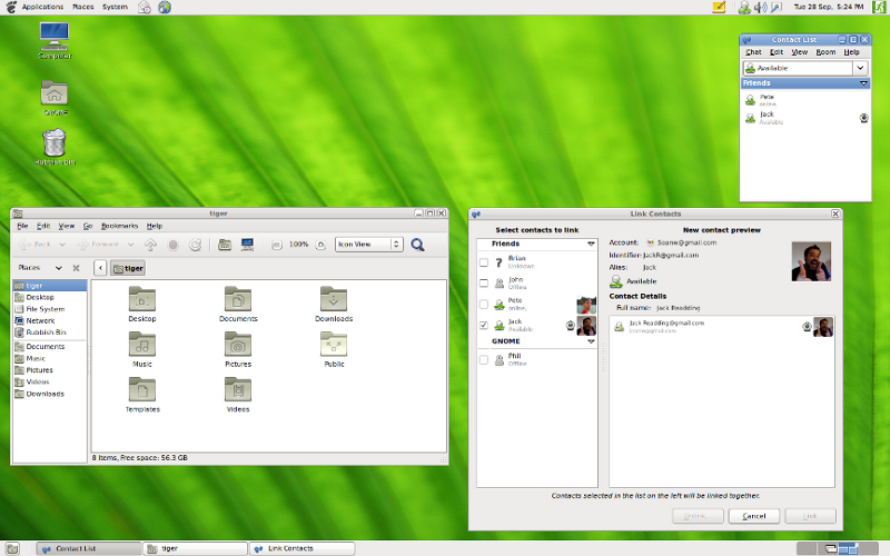 A Typical GNOME 2 desktop