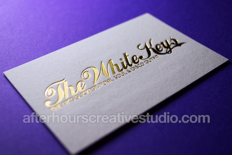 Gold Foil Business Cards Luxury Printing After Hours Creative