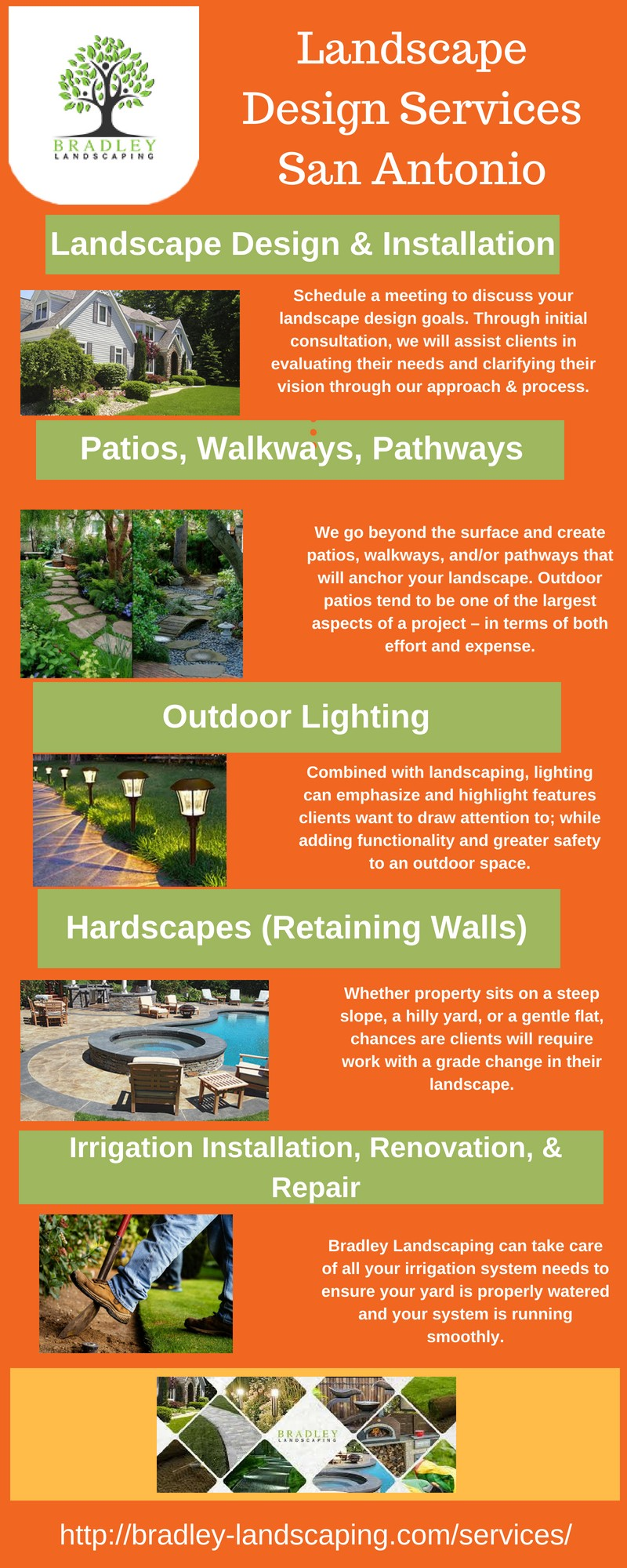 We offer a complete array of Landscaping Services, we have the experts you  are looking for to help create, build, and…bradley-landscaping.com - Landscape Design Services San Antonio — Bradley Landscaping