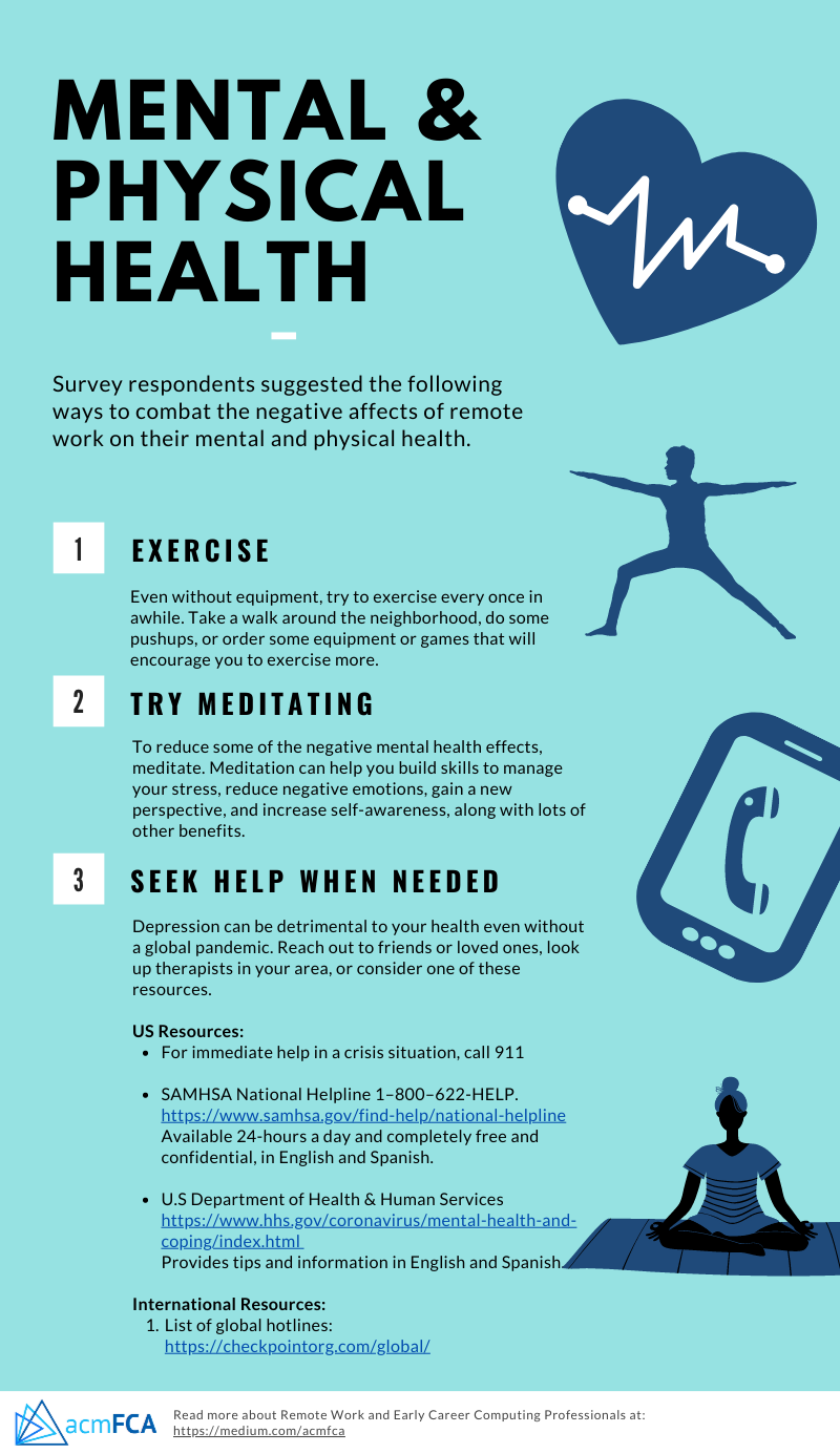 Effective strategies from respondents such as: exercise, meditation, and seeking help when needed
